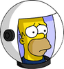 Deep Space Homer Sad Icon
