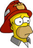 Fireman Homer Sad Icon