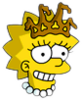 Little Miss Springfield Lisa Happy Icon