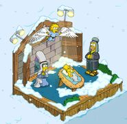 Nativity Scene with Simpsons Family