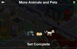More Animals and Pets Character Collection 2019