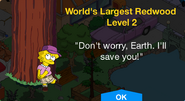 Worlds Largest Redwood Level 2 Upgrade Screen