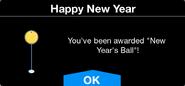 New Year's Ball Unlock screen