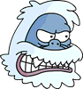 Snow Monster Angry Icon