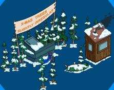 X-mas Trees Slightly Irregular Snow Menu