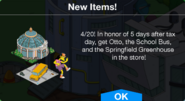 Spring Relaxation Bundle Notification
