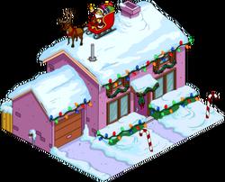 Christmas Purple House Snow Menu