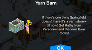 Yarn Barn notification