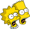 Bart and Lisa Scream Icon