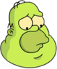 Gelatinous Homer Sad Icon
