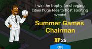 Summer Games Chairman Unlock Screen