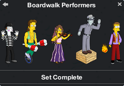 Boardwalk Performers Character Collection