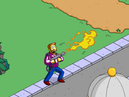 Hank Scorpio Testing Flame Thrower