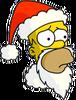 Santa Homer Sad Icon