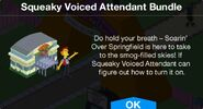 Squeaky Voiced Attendant Bundle Notification