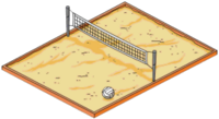 Tapped Out Volleyball Net