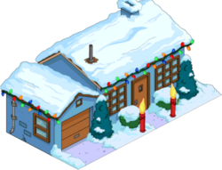 Christmas Blue House Snow Menu