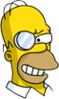 Evil Homer Monocle Devious Icon