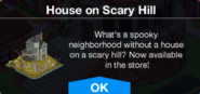 House on Scary Hill message