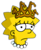 Little Miss Springfield Lisa Sad Icon
