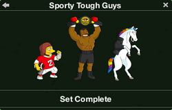 Sporty Tough Guys Character Collection
