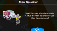 Maw Spuckler notification