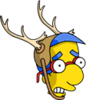 Milhouse Antlers Scared Icon
