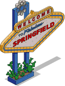 Welcome To Springfield Sign Menu