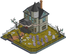 House on Scary Hill Menu