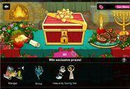 Happy Holidays Mystery Box Screen