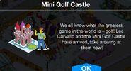 Mini Golf Castle notification