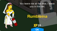 Rumbleina unlock scren