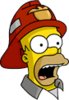 Fireman Homer Surprised Icon