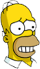 Homer Cautious Icon