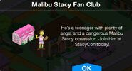 Malibu Stacy Fan Club notification