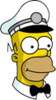 Ice Cream Man Homer Icon