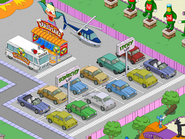 Scratchy & Itchy Parking Lots with Krustyland Shuttle and Itchy & Scratchy Helicopter