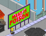 Lisa Hacking Meat Propaganda Billboard