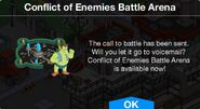 Conflict of Enemies Battle Arena notification