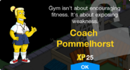 Coach Pommelhorst Unlock Screen