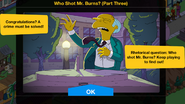 Who Shot Mr. Burns (Part Three) Event End