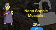 Nana Sophie Mussolini Unlock Screen