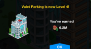 Valet Parking Level 4 Upgrade Screen