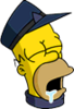 Conductor Homer Asleep Icon