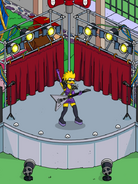 Rockstar Maggie Performing a Rock Show at Open Air Stage