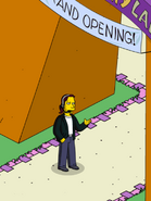 Jeremy Making a Call at the Itchy & Scratchy Land Gate