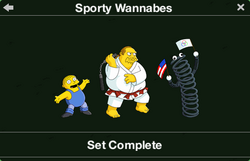 Sporty Wannabes Character Collection