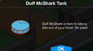 Duff McShark Tank notification