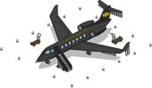 Black Leather Plane Menu