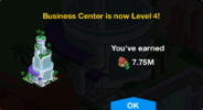 Business Center Level 4 Upgrade Screen